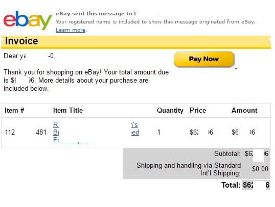 ebay インボイス