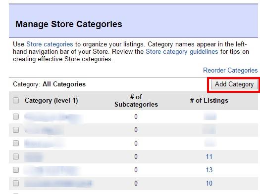 ebay ストアカテゴリー追加