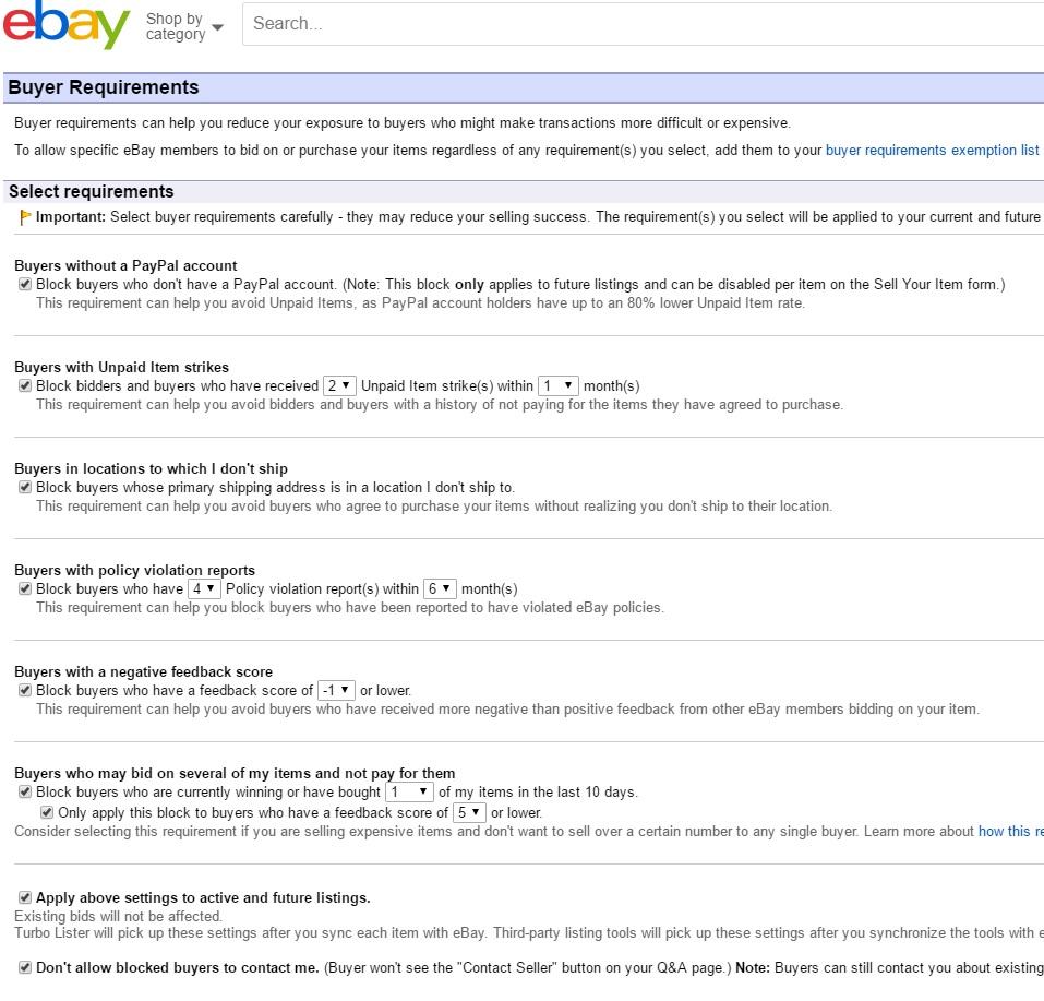 ebay バイヤー拒否