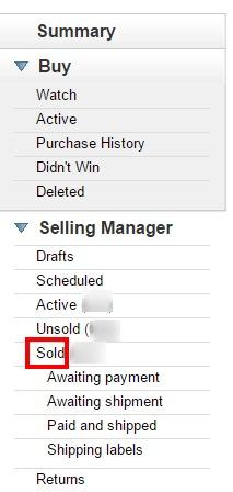 ebay sold