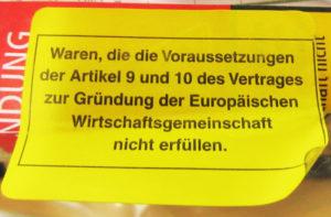ドイツ荷物返送された